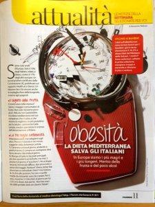 Articolo di Alessandro Pellizzari sull'obesità in Italia pubblicato su Starbene