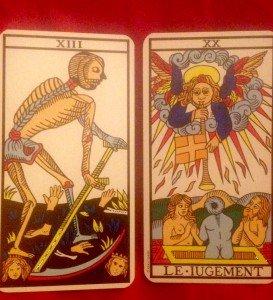 Il mietitore e il giudizio nei Tarot Marsigliesi