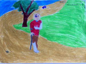 L'uomo in crisi reduce ammaccato secondo Rebecca Pellizzari, 8 anni, mia figlia